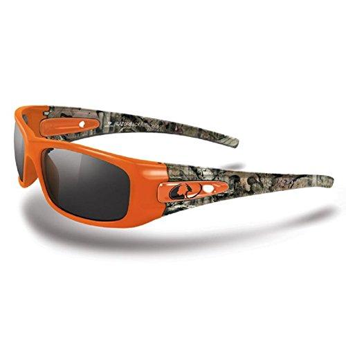Mossy Oak Break-up Infinty Camo Men's Razorback- Orange-Camo Frame/Smoke Lens Wrap-Around 70mm Sunglasses