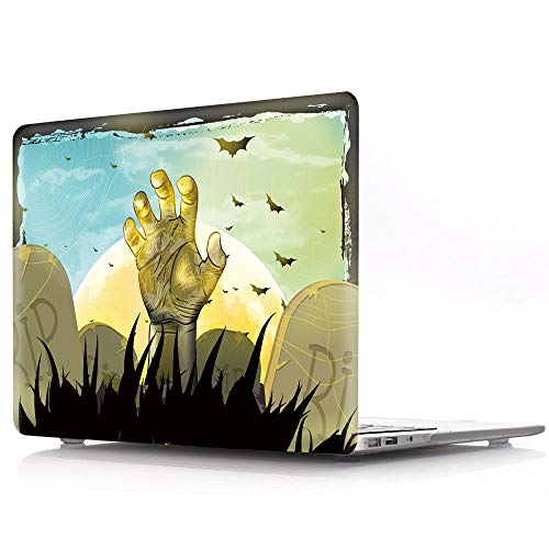 HRH Halloween Golden Zombie Design Laptop Body Shell Protective Hard Case for MacBook New Pro 15
