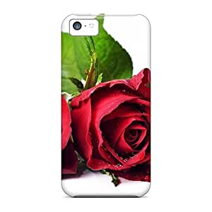 New Style ConnieJCole Hard Case Cover For Iphone 5c- Rose Flower Free