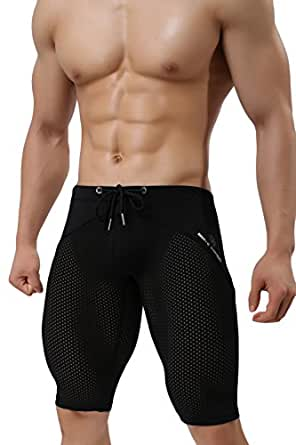 Amazon.com: sandbank Men's Compression Sports Tight Shorts
