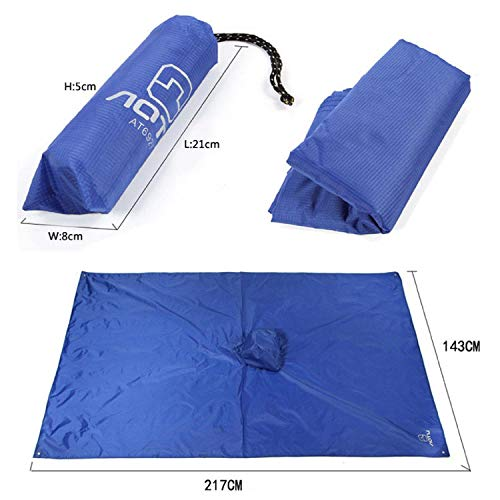 Roysberry Raincoat, New Light Weight Rain Coat Poncho Waterproof Camping Hiking Hooded Cape Three-in-One Multi-Function Backpack Raincoat Outdoor Mountaineering Riding Poncho Moisture Picnic Cloth