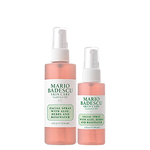 Mario Badescu Facial Spray With Aloe Herbs Rosewater Duo 2 Oz 4 Oz