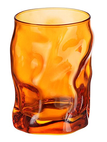Bormioli Rocco Stemware (Bormioli Rocco Sorgente 10.25 oz. Water Glass, Orange, Set of 6)