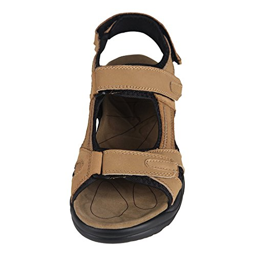 TOOGOO(R) sandales garcon cuir Kaki Hommes chaussures d'ete,Taille 48