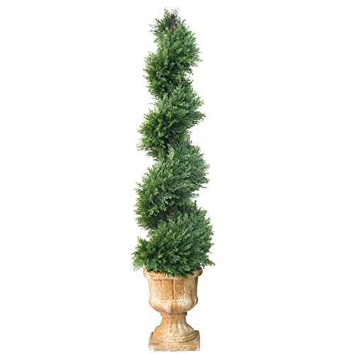 (National Tree 54 Inch Artificial Slim Juniper Spiral Tree (LCYSP4-710-54) )