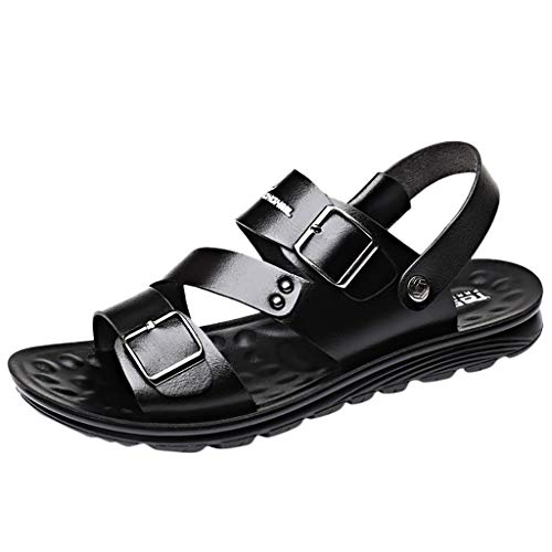Corriee Gift Idea Men Fashion Sandals Mens Summer Casual Walking Flats Shoes for Work Footwear Black