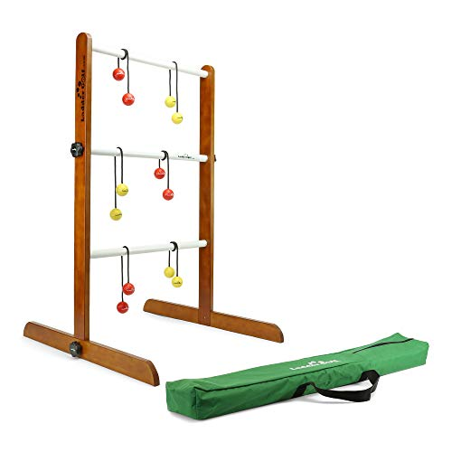 Ladder Golf - Single Ladder Ball Game (Red + Yellow Bolas) Official Brand Game (R/Y)