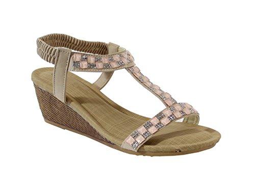 By Shoes - Sandalias para Mujer Abricot