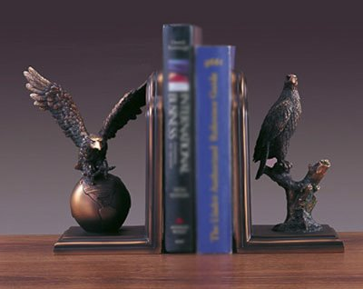 "Eagle Bookends Bronze Sculpture- 9""x 8"" for sale  Delivered anywhere in USA"