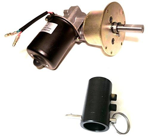 Makermotor High Torque Gearmotor 12V DC 6RPM Conveyor Gear Motor + Shaft Coupling