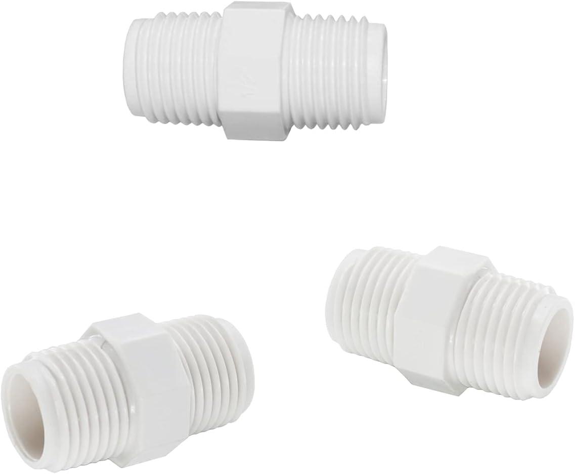 Omitfu 3 Pcs PVC Garden Hose Adapters 1/2