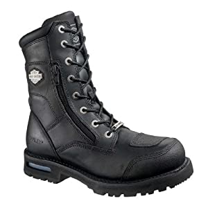 Harley-Davidson Mens Riddick Black Mid Cut Riding Boot - 7