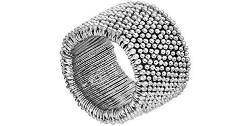 Metal Pointu's Bracelet Myri Bis plaqué argent, Ø55mm