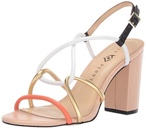 Katy Perry Women's The Kendra-Nappa Heeled Sandal, Coral Reef, 9 Medium US