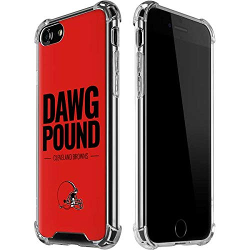 Skinit Cleveland Browns iPhone 8 Clear Case - Officially Licensed NFL Phone Case - Transparent iPhone 8 Cover