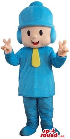 SpotSound Pocoyo - Disfraz de niño en Sombrero Azul con Dibujos ...