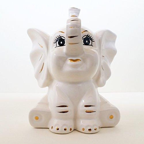 ArioCraft Handmade Decorative Ceramic Baby Elephant Figurine, Pottery Home Decor