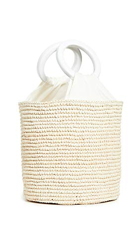 Sensi Studio Women's Medium Bucket Bag, Natural/White/Cream, One Size