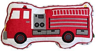 """Children/'s 12/"""" Complete Cushion with Fire Engines in 100/% Cotton Fabric"""