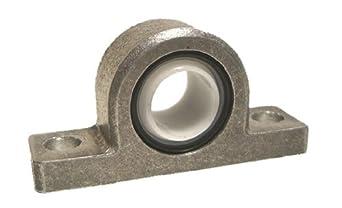 "Spyraflo PB2-625-A Delrin Acetyl Bearing Pillow Block, 2 Bolt Holes, 0.625"" Bore Diameter, Aluminum, Inch"