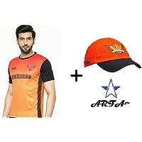Combo - 1 SRH (Sun Raisers Hydrabad) IPL T-Shirt & 1 SRH Cap for 16-20 Years boy or Girl by Aaina ARFA.