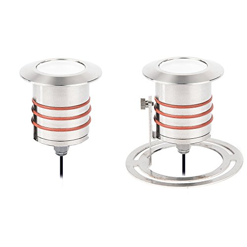 WAC Lighting 2031-30SS WAC Submersible 2 inch Led 12V Inground Submersible Round Light In Stainless SteelStainless Steel by WAC Lighting