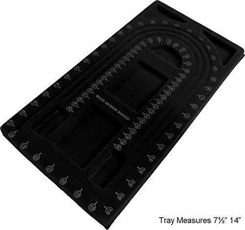 Spiral Black Beading Design Tray : ( Pack Of 2 Pcs ): TJ1733B Hawk Spiral