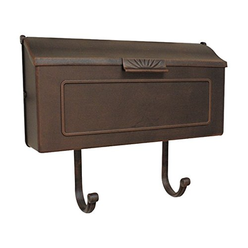 MD Group Mailbox Copper Horizontal Cast Aluminum Wall Mounted Single Compartment Outdoor Letter Box