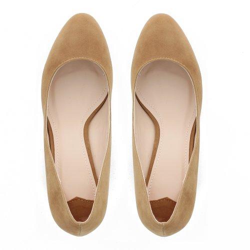 Go Tendance - Zapatos de vestir para mujer Beige - beige