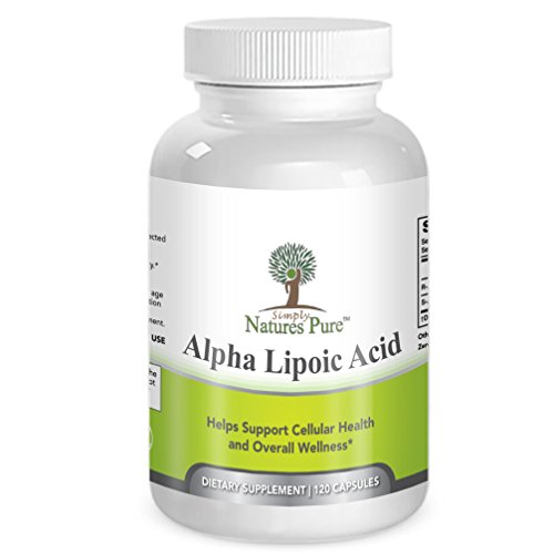Simply Nature's Pure Alpha Lipoic Acid 600mg 120 veggie capsules RLA R-LA R-Lipoic S-Lipoic HIGHEST Quality ALA, Better Bioavailability also known as Thioctic Acid 4 Month Supply For Sale