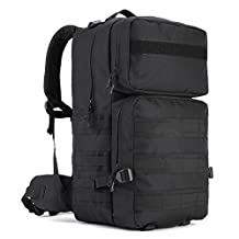 Tactical Assault Pack, WOTOW 55L MOLLE Backpack Military Gear Rucksack Combat Backpack Water Resistant Sport Outdoor Camping Hiking Trekking Bag