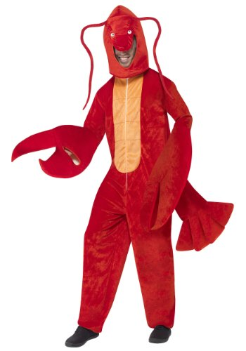 Smiffy's Adult Unisex Lobster Costume, All in One and Hood, Party Animals, Serious Fun, One Size, (All In One Costume)