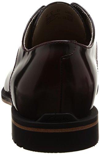 Clarks Gatley Walk Herren Brogue Schnürhalbschuhe Rot (Burgundy Leather)