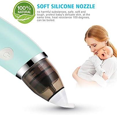 Aspirador nasal para recién nacido, aspirador nasal con 2 puntas ...
