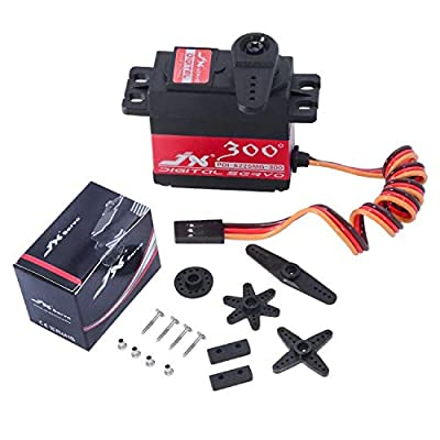 JX servo PDI-6225MG-300 Control Angle 300° 25KG High Precision Metal Gear Digital Servo Motor for RC Car Robot UAV Helicopter Airplane: Toys & Games