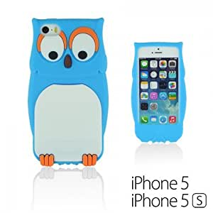 Style 3D Soft Silicone For Iphone 5/5S Case Cover - Blue