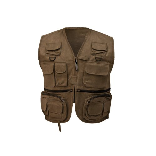 Frogg Toggs Cascades Classic50 Fly Vest, Stone, Size ()