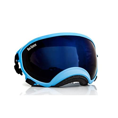 large goggles  Rex Specs Dog Goggles Size Large Blue Frame With Mirror Blue Lens ...
