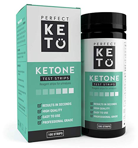 Perfect Keto Ketone Testing Strips: Test Ketosis Levels on Low Carb Ketogenic Diet, 100 Urinalysis Tester Strips Best for Accurate Meter Measurement of Urine Ketones Tests: by Perfect Keto]()