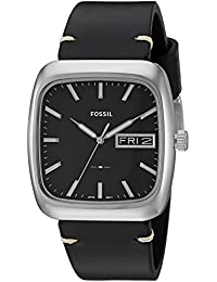 Fossil Men's FS5330 Rutherford Three-Hand Day-Date Black...