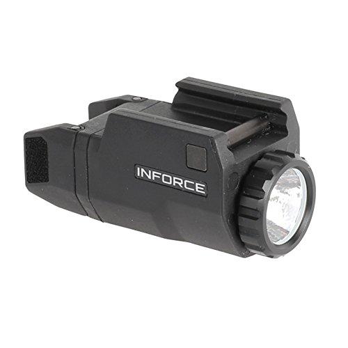 InForce APLc Compact WML Weapon Mounted White Light For Glock Auto Pistol 200 Lumens Black - Flashlight Glock Gun