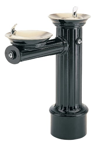 Haws 3511FR ''Hi-Lo'' Barrier-Free Antique Historic Style Freeze-Resistant Heavy-Duty Cast Aluminum Pedestal Drinking Fountain with Black Powder-Coated Finish (Freeze-Resistant Valve Not Included) by Haws