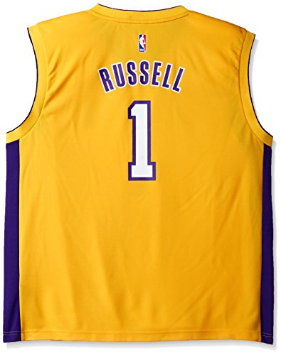 - NBA Men's Los Angeles Lakers El Replica Player Home Jersey, Small, Yellow