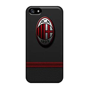 Excellent Iphone 5/5s Case Tpu Cover Back Skin Protector Ac Milan 3