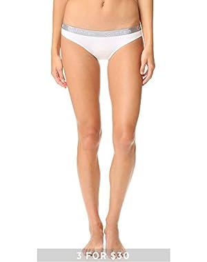 Calvin Klein Underwear Women's Radiant Cotton Bikini Panties, White, X-Large