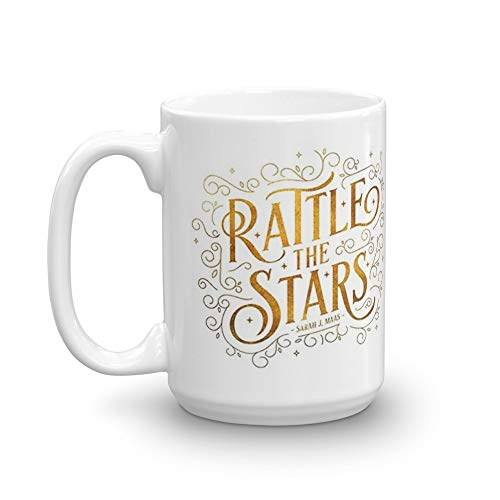(Rattle the Stars. 15 Oz Ceramic Coffee Mugs With C-shape Handle, Comfortable To Hold. 15 Oz Ceramic Glossy Gift For Coffee Lovers Quote Mug Gifts For Men & Women)