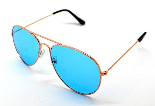 Gafas Hombre Espejo Sol Mujer Sunglasses de Azul Aviador zrxzTqAUw
