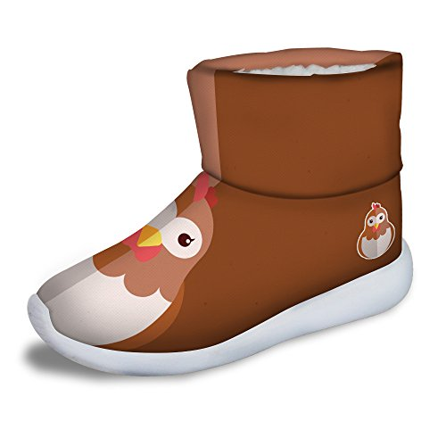 FOR U DESIGNS Cute Hen Print Children Cozy Short Ankle Snow Boots US 11.5 by FOR U DESIGNS (Image #5)