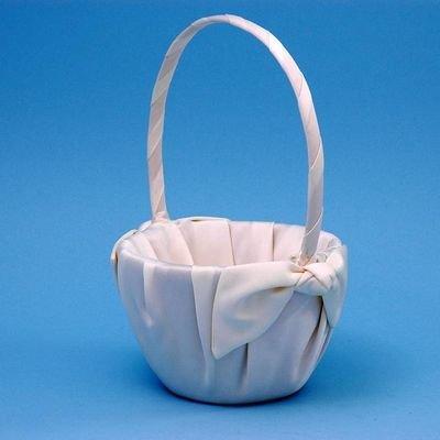 Love Knot Wedding Accessories Flower Girl Basket, Ivory ()
