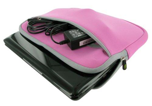 Packard Bell 11.6-Inch Dot M Netbook Neoprene Sleeve SlipCase (Invisible Zipper Dual-Pocket - Pink)